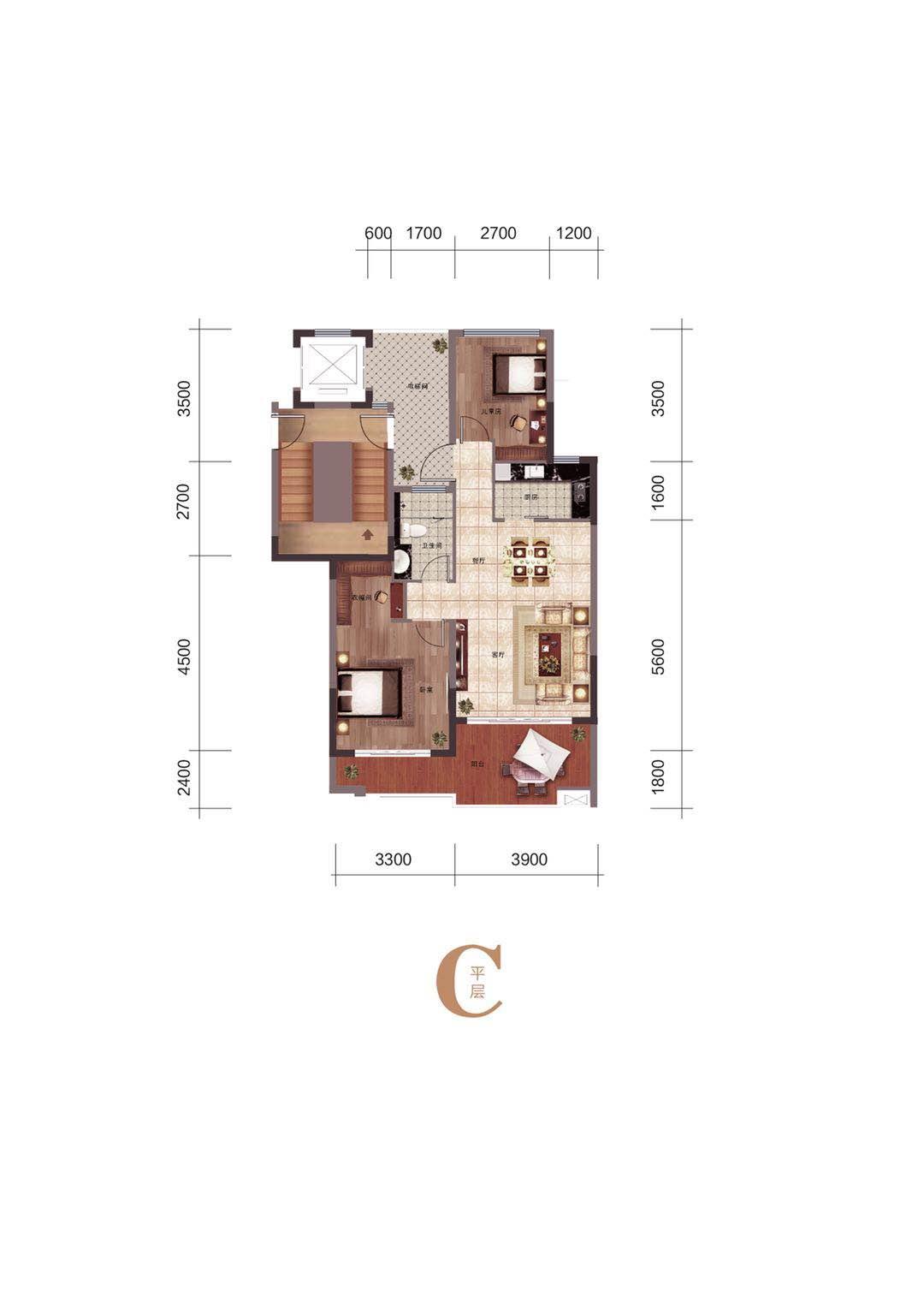 海南怡海湾C2:大平层(三、四层)面积:79-80平米 两室两厅一卫