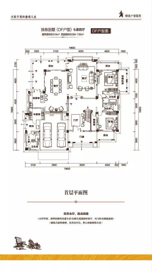 富力盈溪谷独栋DF首层 7房4厅 建筑面积:516㎡