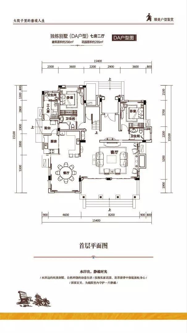 富力盈溪谷DA型首 7室2厅5卫1厨 建筑面积:298.00㎡