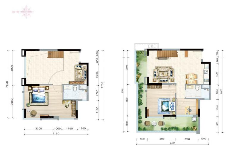 富力月亮湾3室2厅2卫建筑面积约117.73㎡