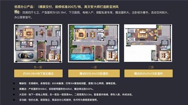 国广海棠湾4室4厅7卫 建筑面积:125.19㎡